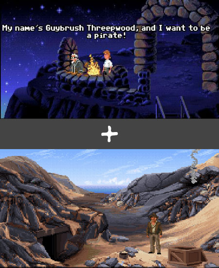 Secret of Monkey Island + Indiana Jones and the Fate of Atlantis
